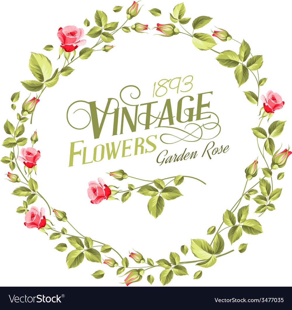 Vintage flowers vector | Price: 1 Credit (USD $1)