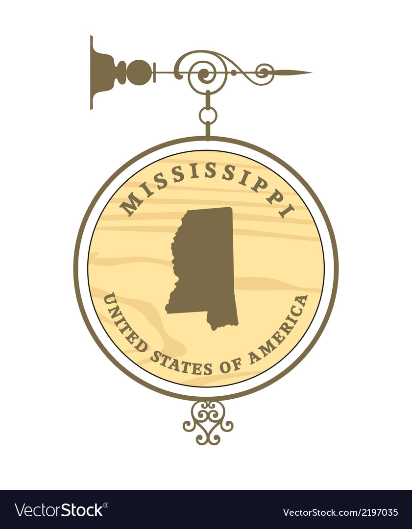 Vintage label mississippi vector | Price: 1 Credit (USD $1)