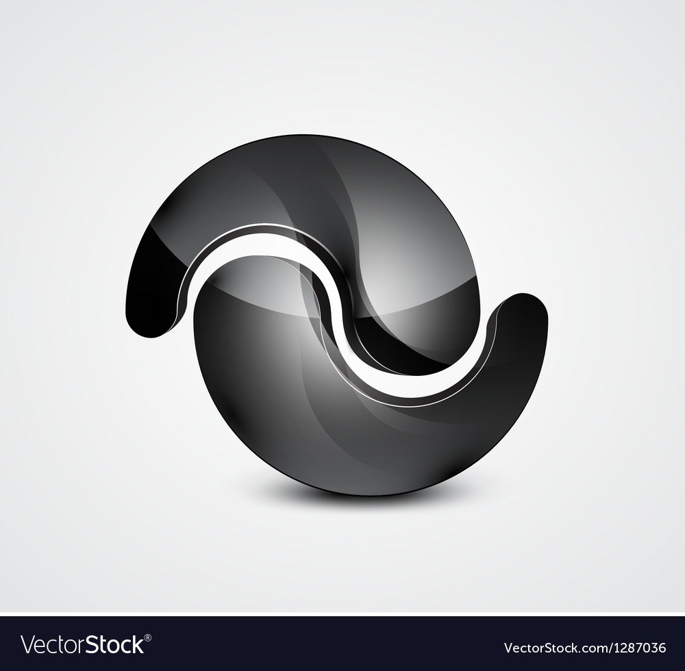 Abstract black shape business symbol vector | Price: 1 Credit (USD $1)
