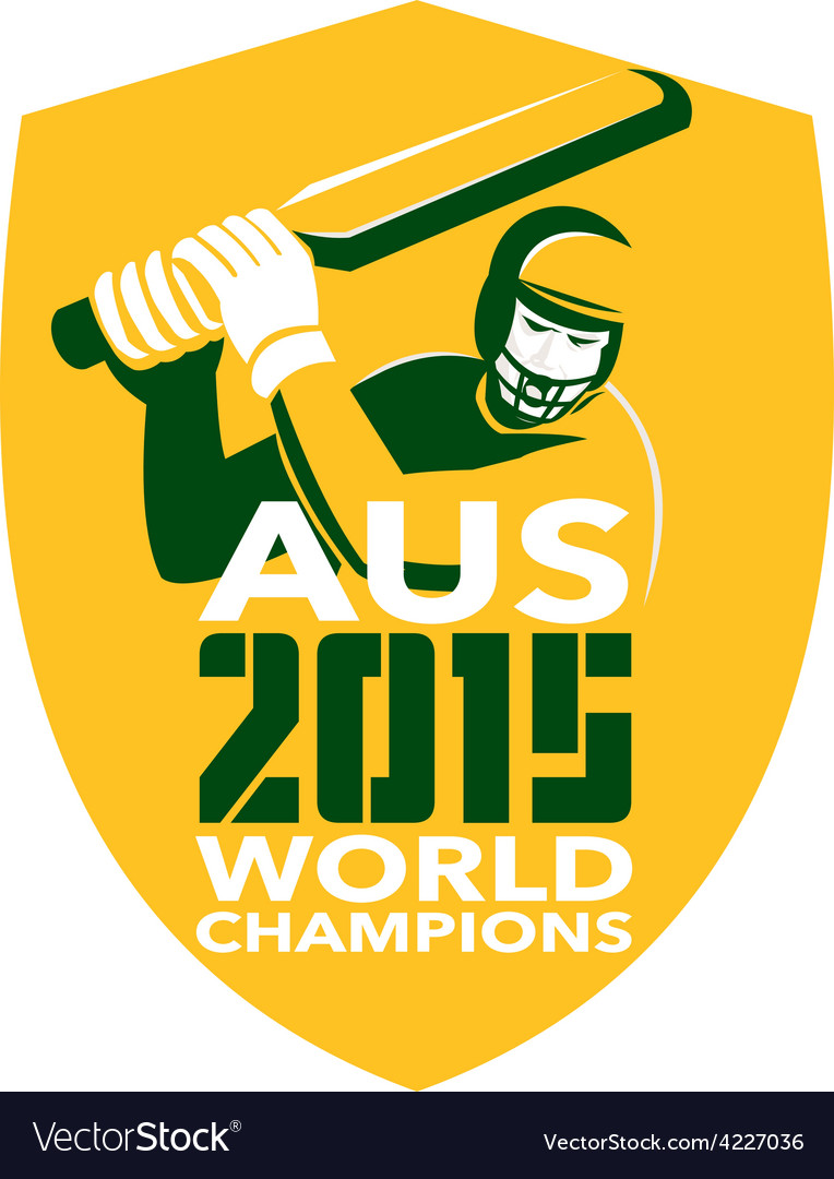 Australia cricket 2015 world champions shield vector | Price: 1 Credit (USD $1)