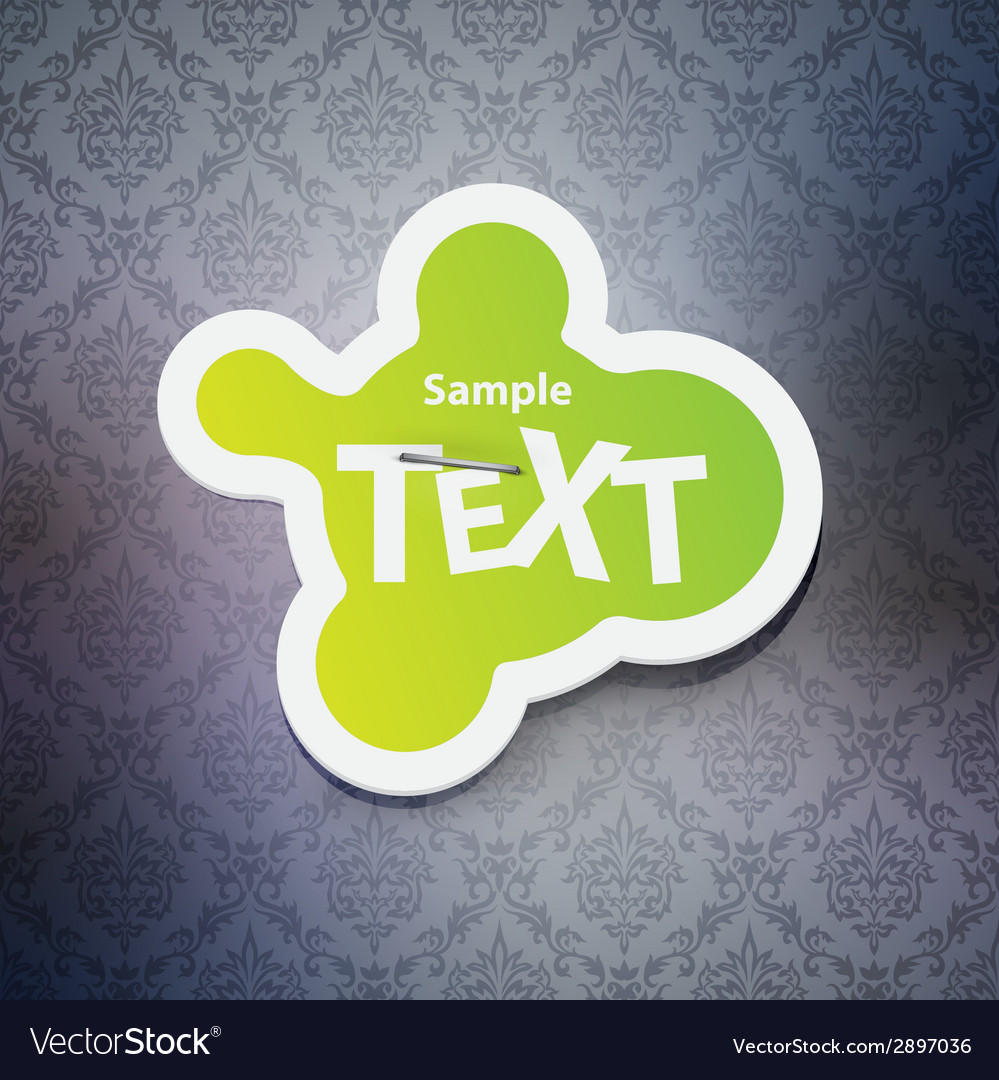 Chat bubble label vector | Price: 1 Credit (USD $1)