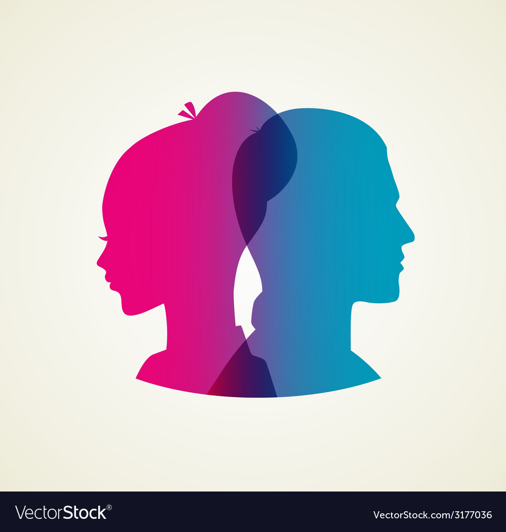 Couples silhouette vector | Price: 1 Credit (USD $1)