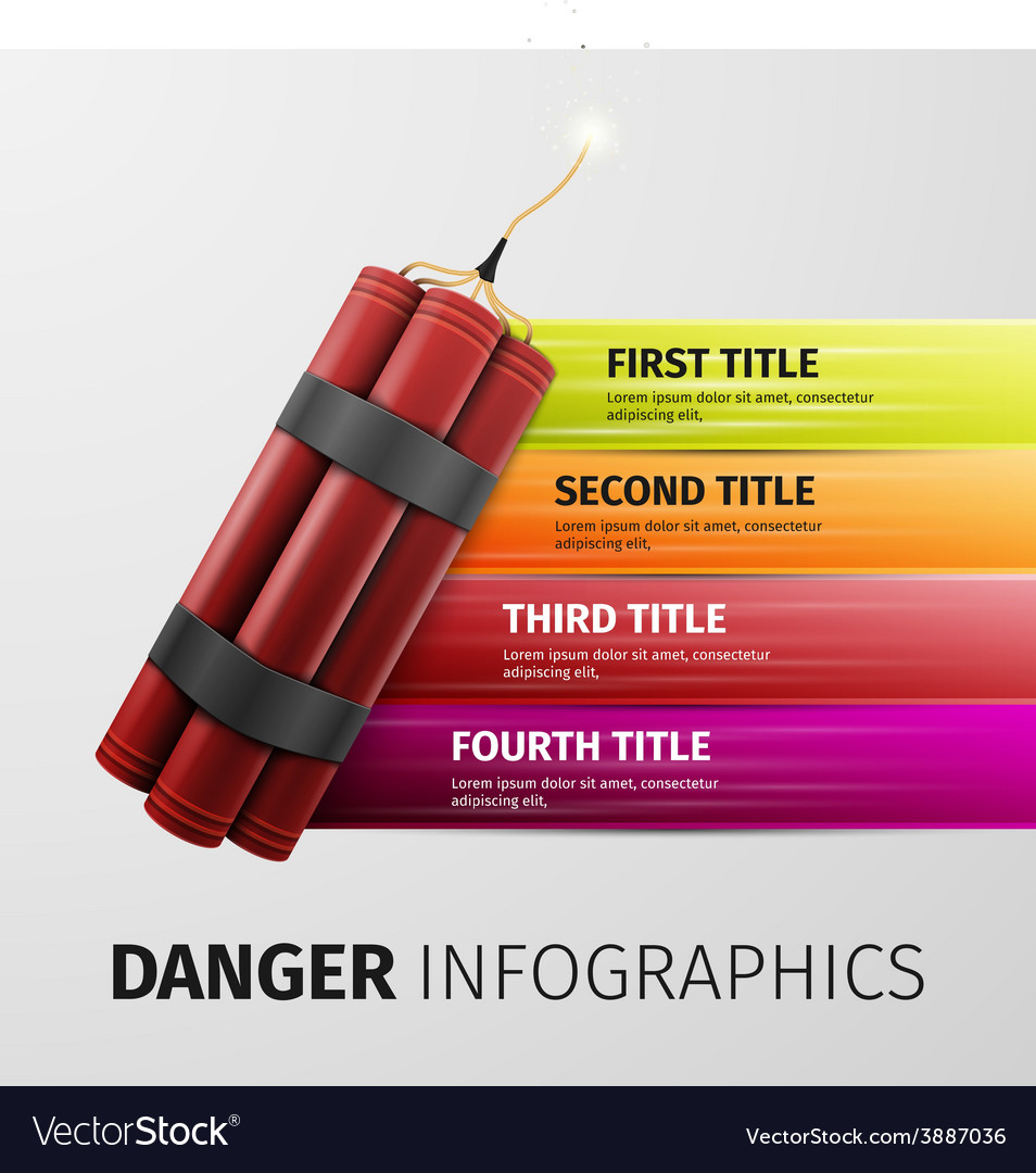 Danger infographics vector | Price: 1 Credit (USD $1)