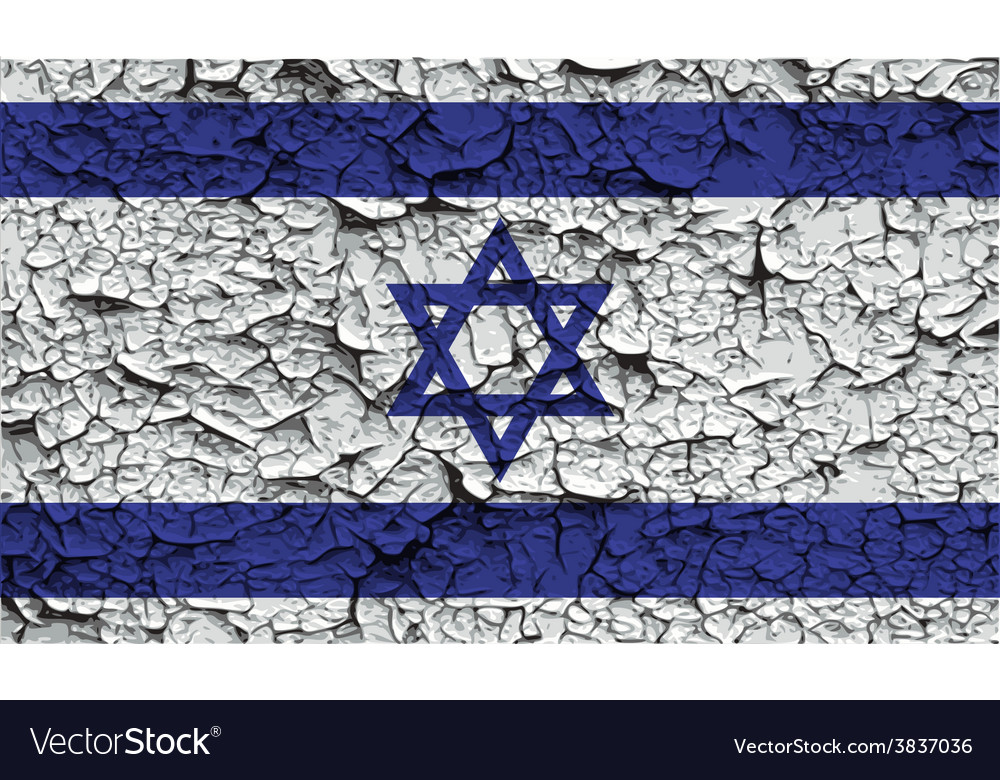 Flag of israe with old texture vector | Price: 1 Credit (USD $1)