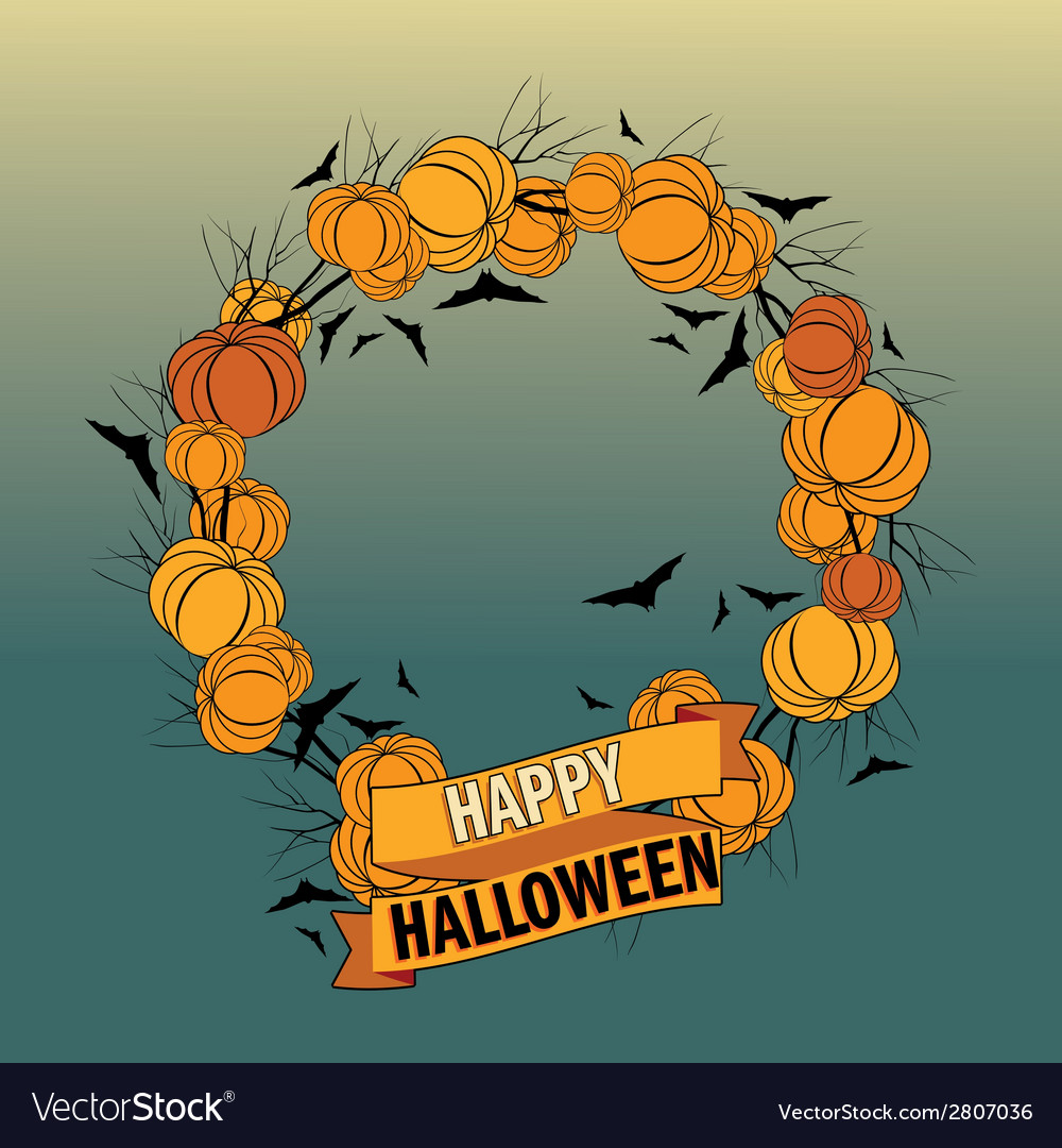 Halloween wreath 5 vector | Price: 1 Credit (USD $1)