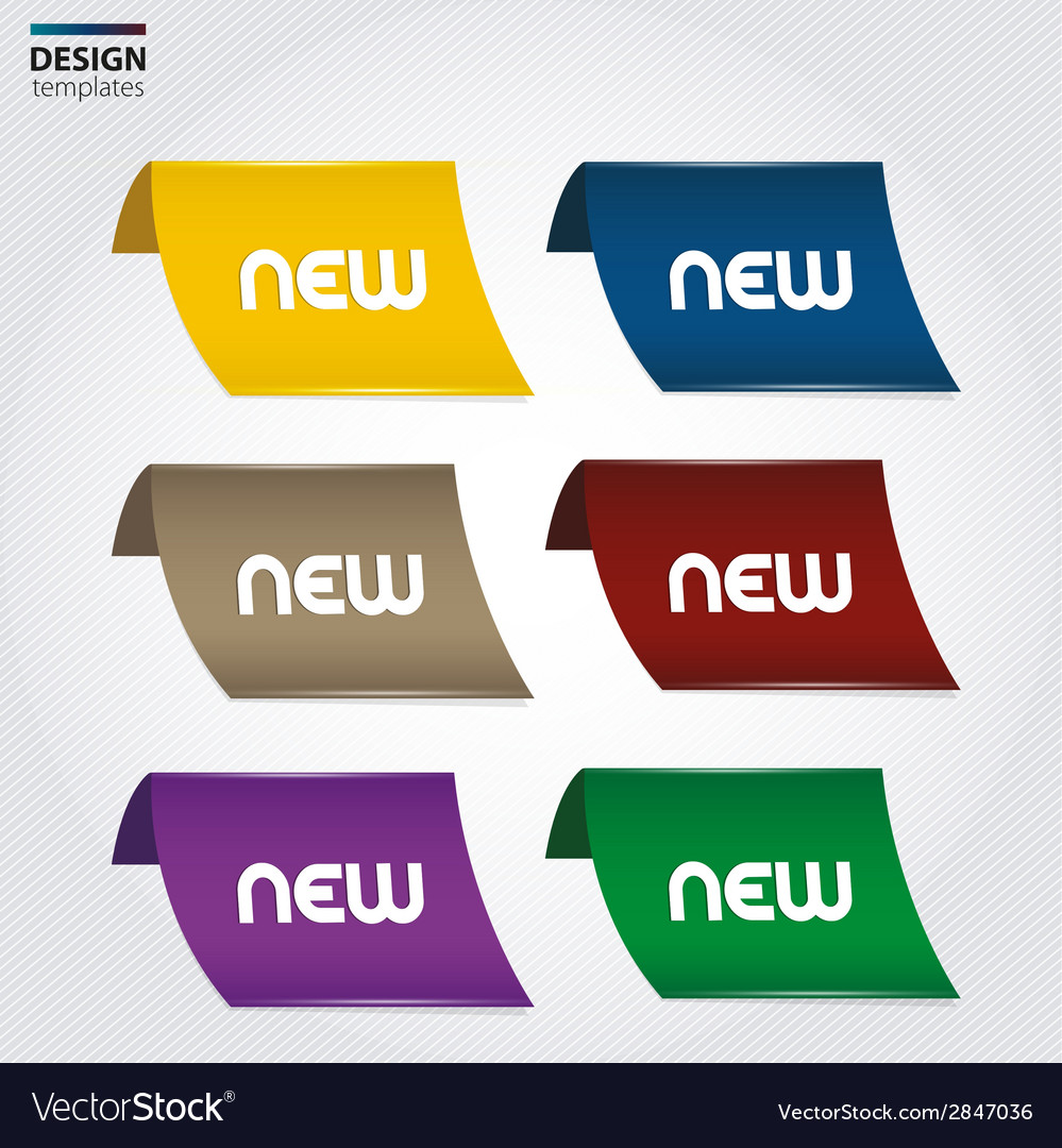 New labels set design elements vector | Price: 1 Credit (USD $1)