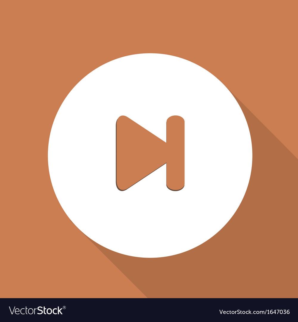 Next track web icon vector | Price: 1 Credit (USD $1)