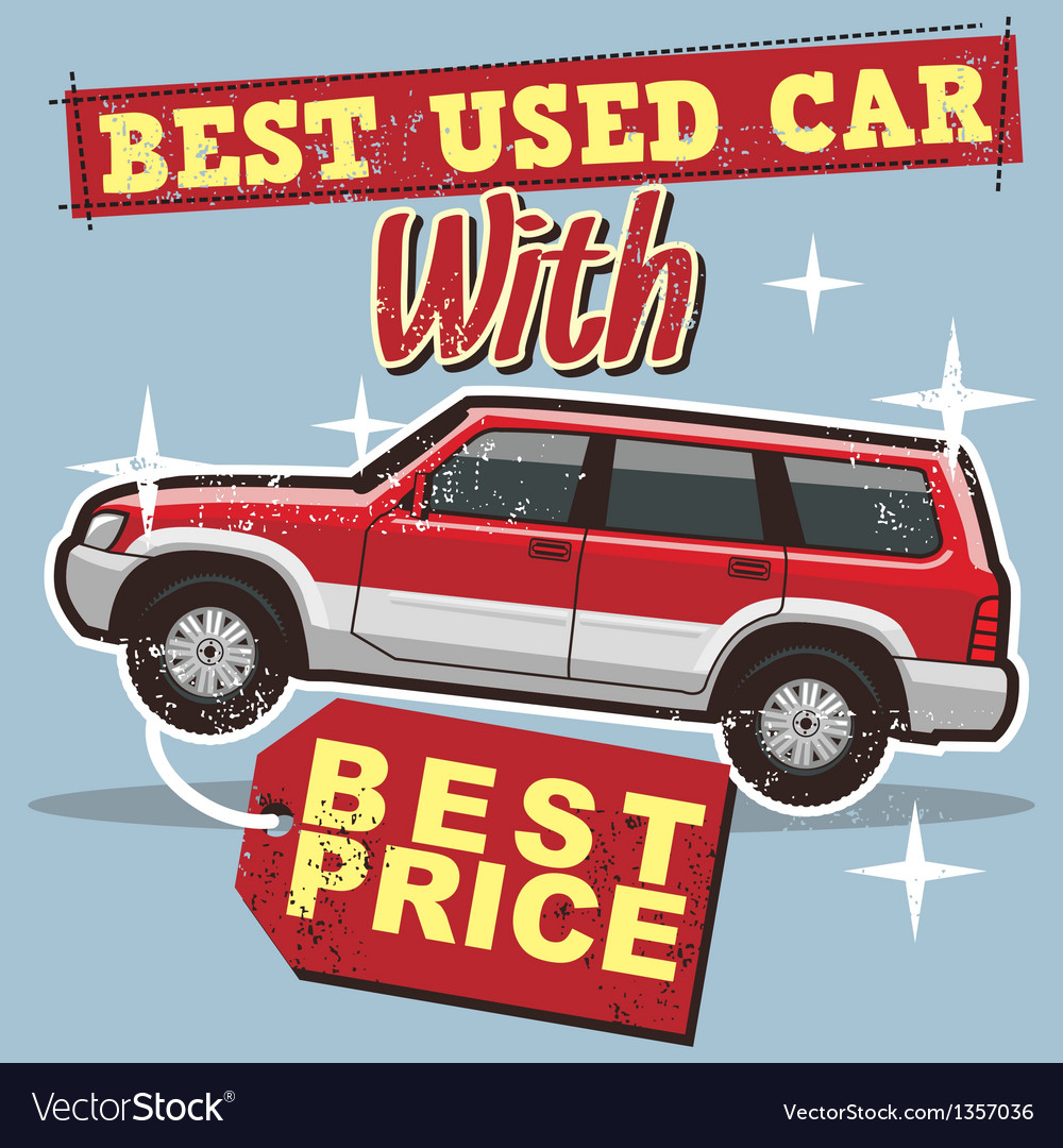 Used car poster vector | Price: 1 Credit (USD $1)