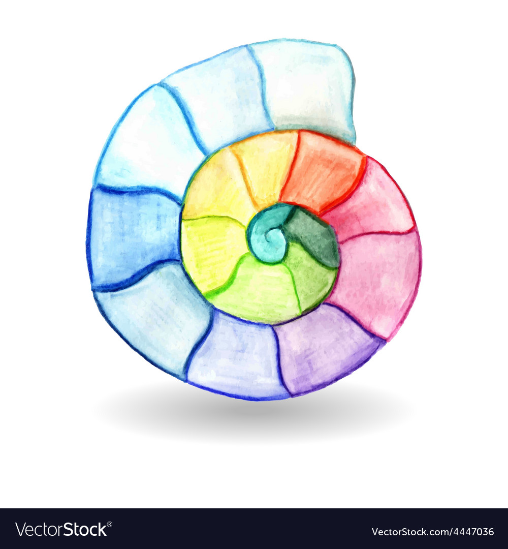 Watercolor shell vector | Price: 1 Credit (USD $1)