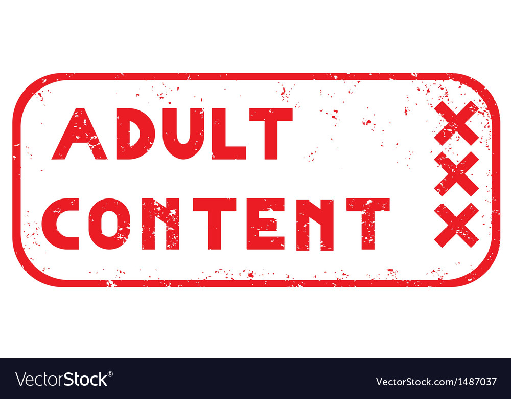 Adult content stamp vector | Price: 1 Credit (USD $1)