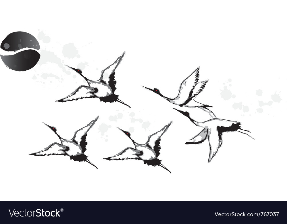 Bird watching vector | Price: 1 Credit (USD $1)