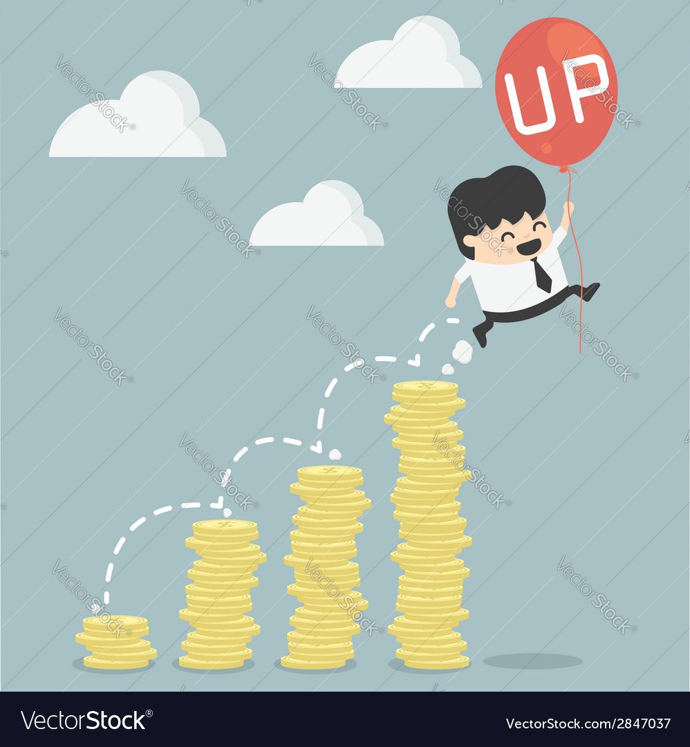 Businessman up vector | Price: 1 Credit (USD $1)