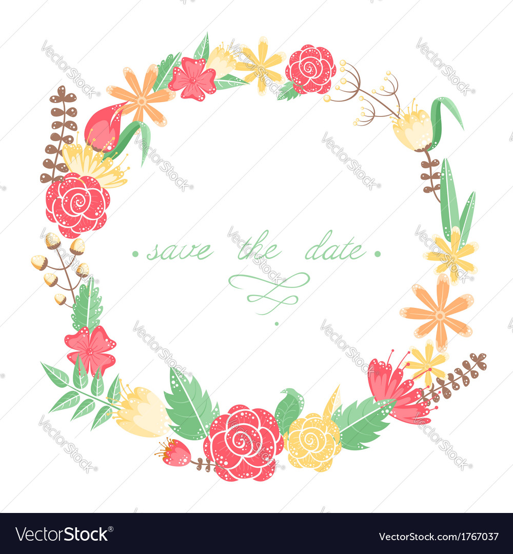 Elegant floral congratulation card vector | Price: 1 Credit (USD $1)