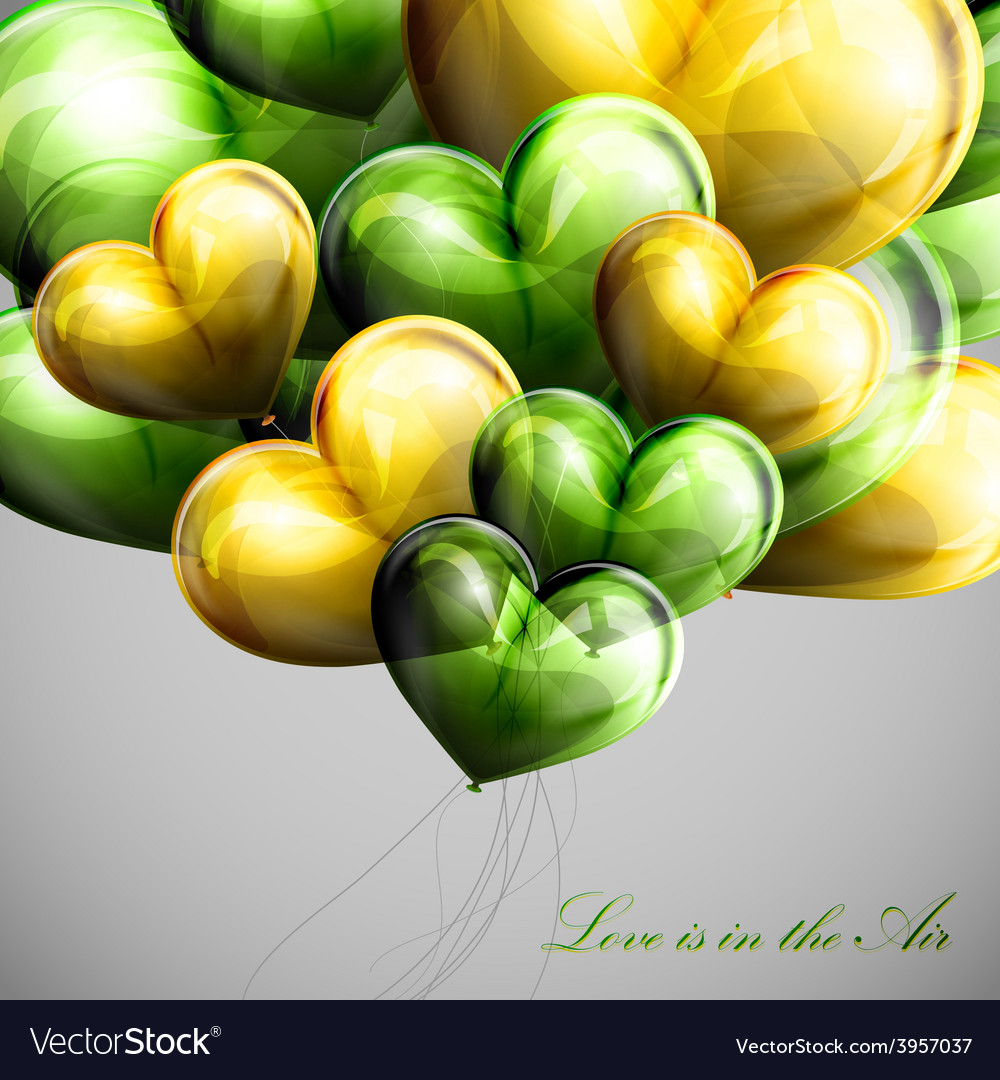 Holiday of flying bunch of balloon vector | Price: 3 Credit (USD $3)