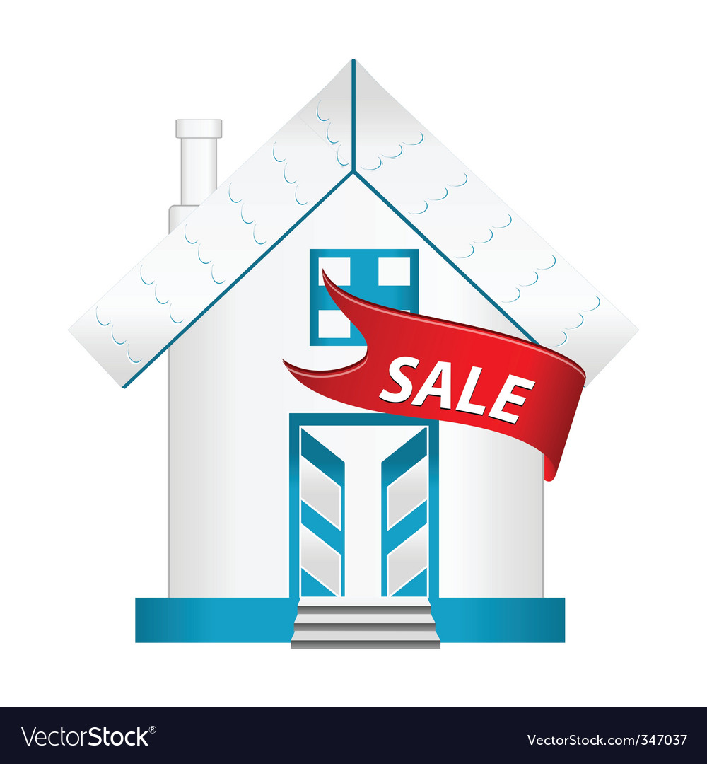 House for sale vector | Price: 1 Credit (USD $1)
