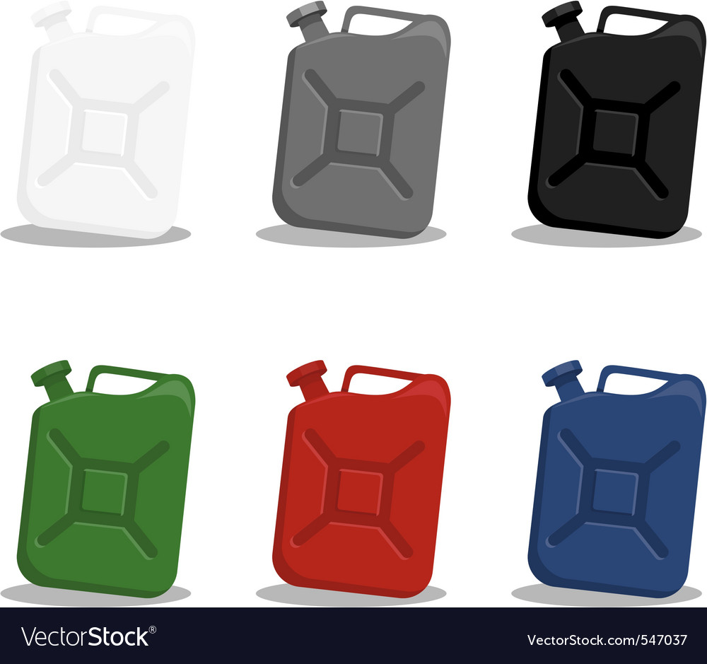 Jerry can of gasoline vector | Price: 1 Credit (USD $1)