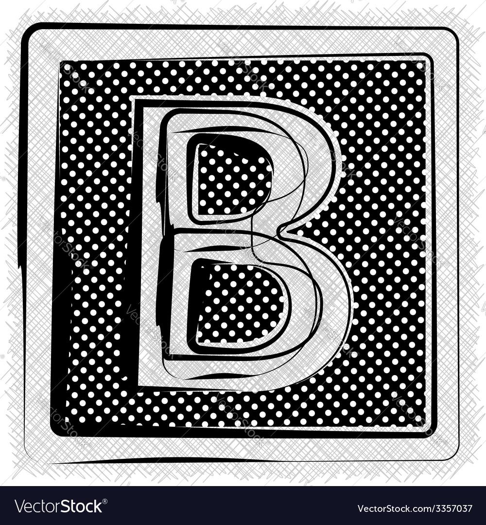 Polka dot font letter b vector   Price: 1 Credit (USD $1)