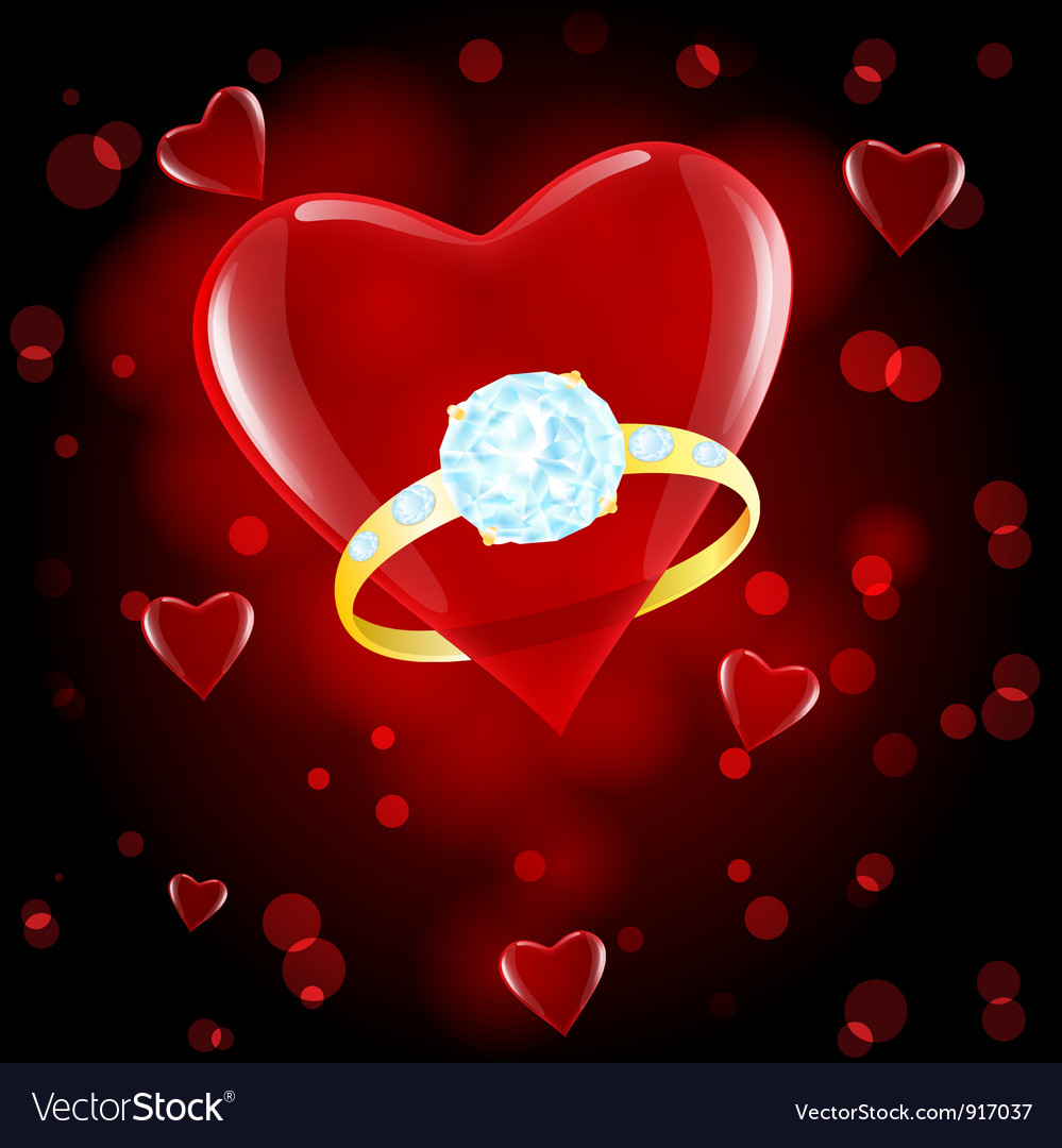 Red hearts ring vector | Price: 1 Credit (USD $1)