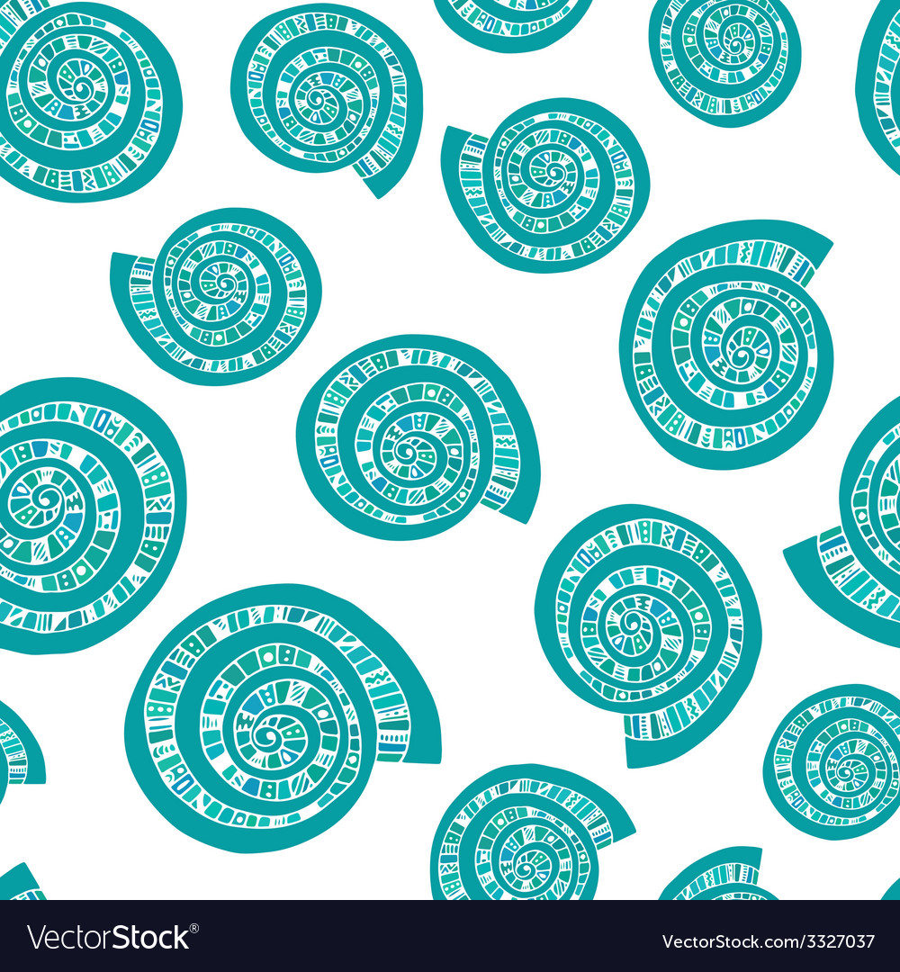 Seashell seamless pattern vector   Price: 1 Credit (USD $1)