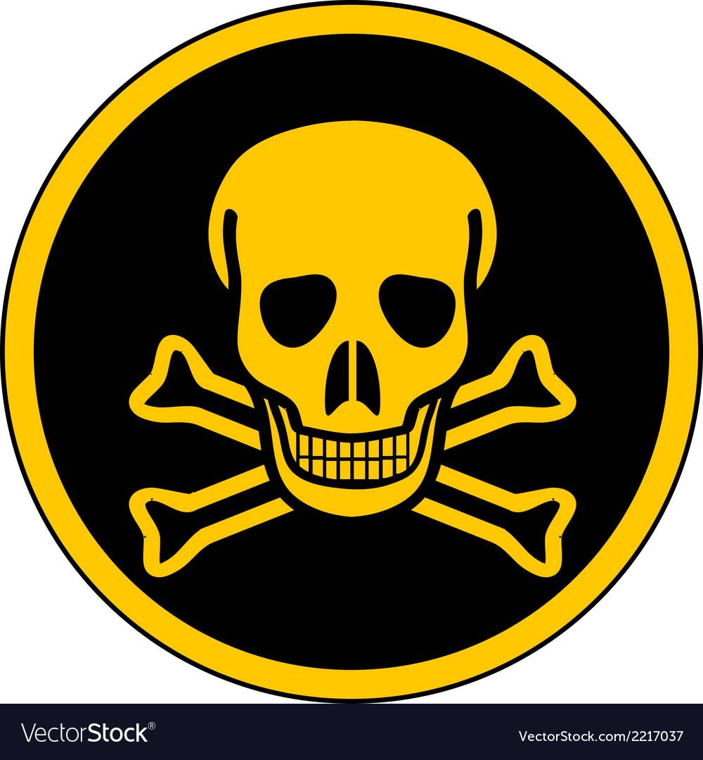 Skull danger sign vector | Price: 1 Credit (USD $1)