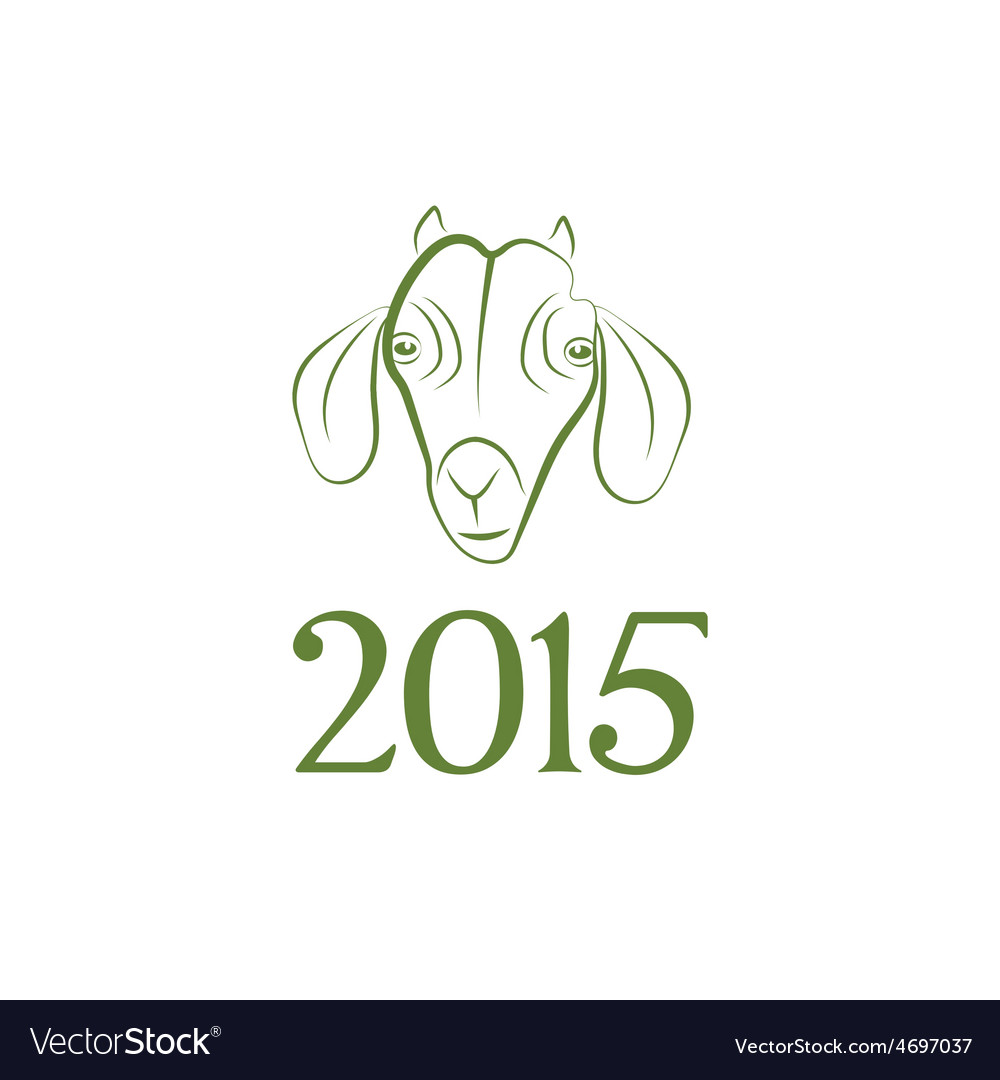 Symbol goat 2015 year vector | Price: 1 Credit (USD $1)