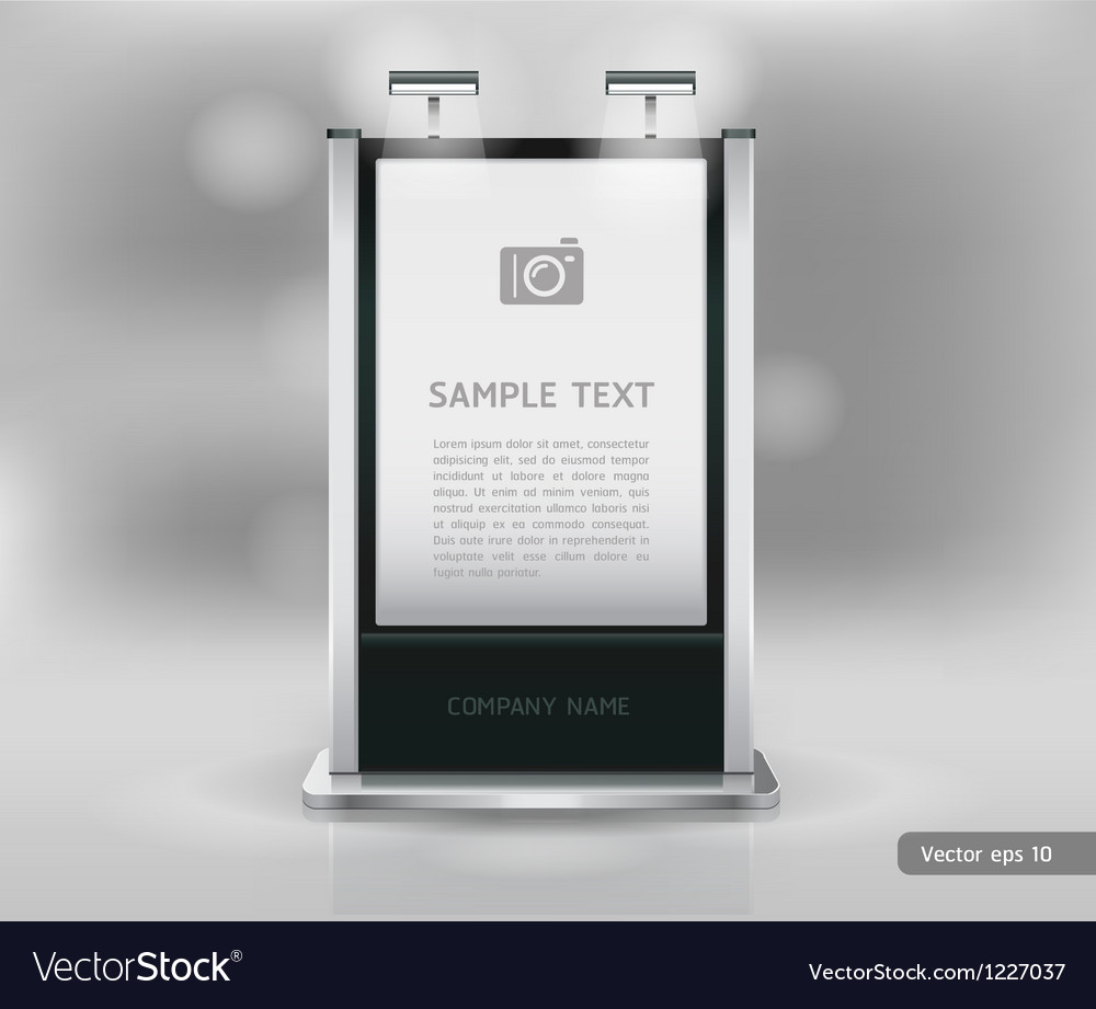 Trade exhibition stand display vector | Price: 1 Credit (USD $1)