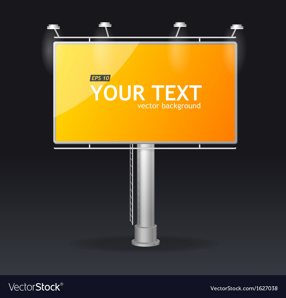 Billboard screen template concept vector | Price: 1 Credit (USD $1)