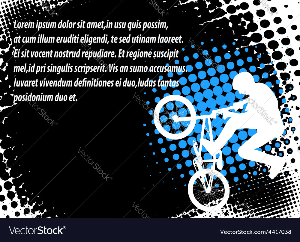 Bmx halftone background vector | Price: 1 Credit (USD $1)