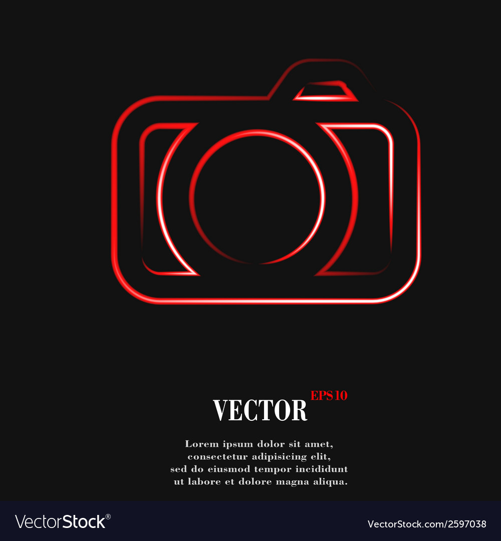 Camera flat modern web button and space for your vector | Price: 1 Credit (USD $1)