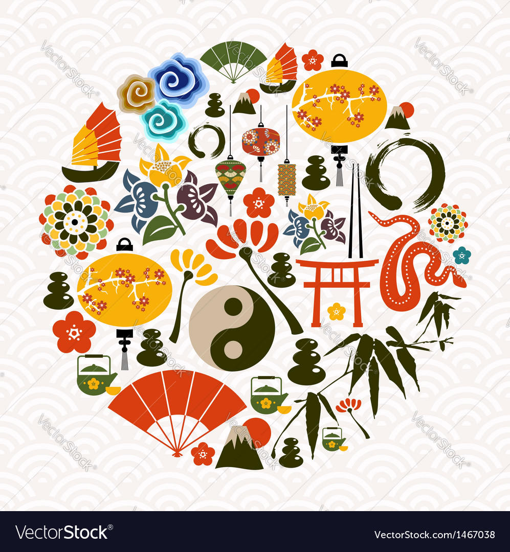 Chinese new year of the snake circle vector | Price: 1 Credit (USD $1)