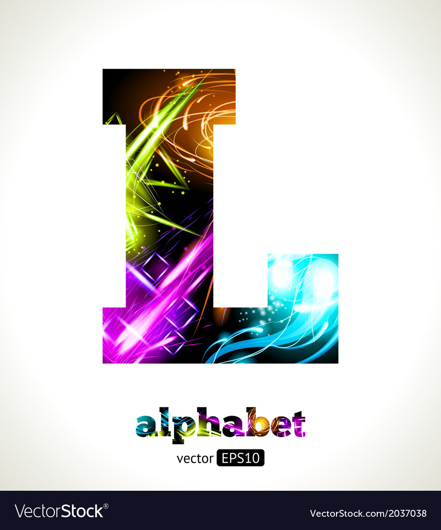 Design abstract letter l vector | Price: 1 Credit (USD $1)