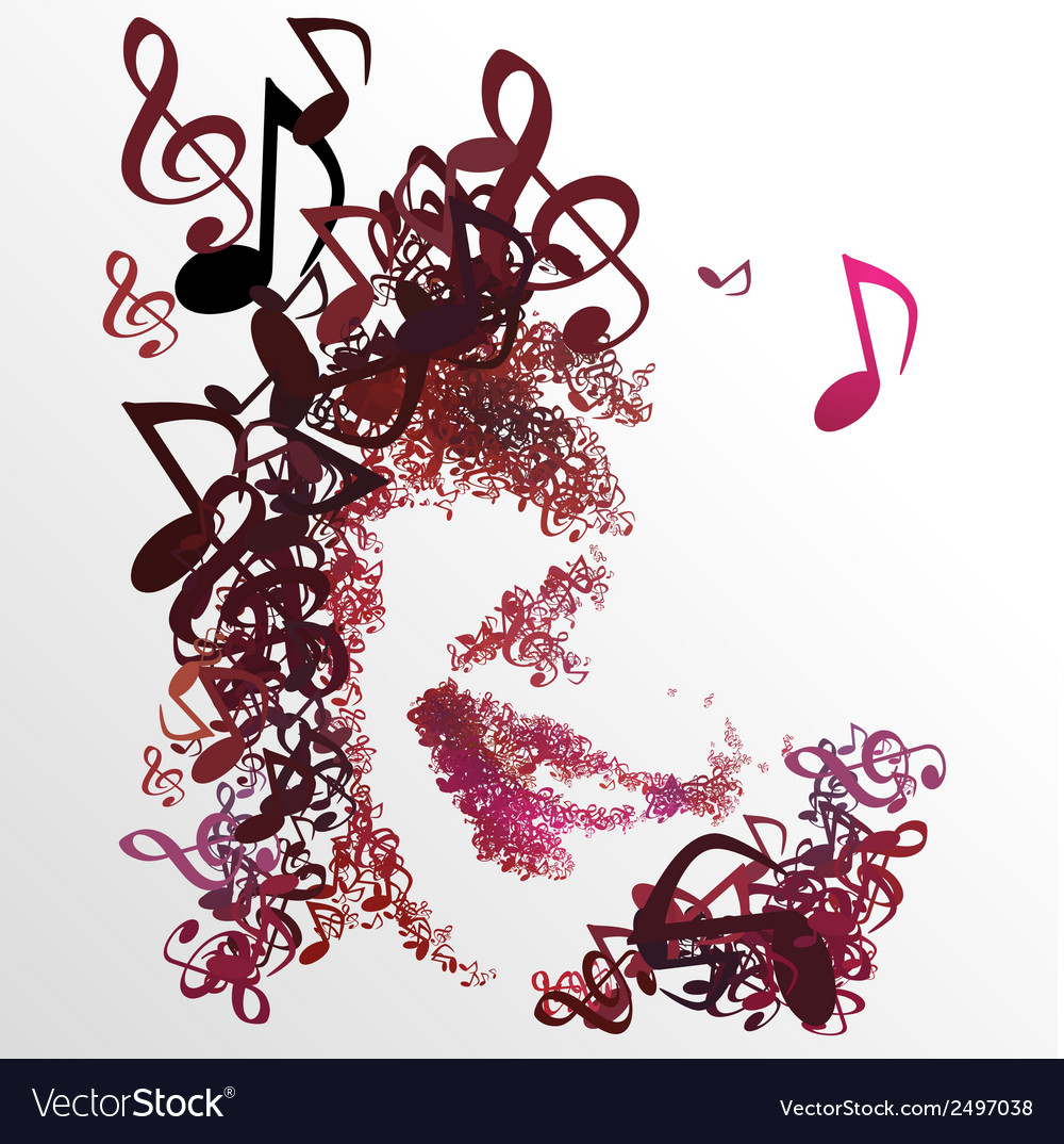 Man enjoy music melody for life 01 vector | Price: 1 Credit (USD $1)