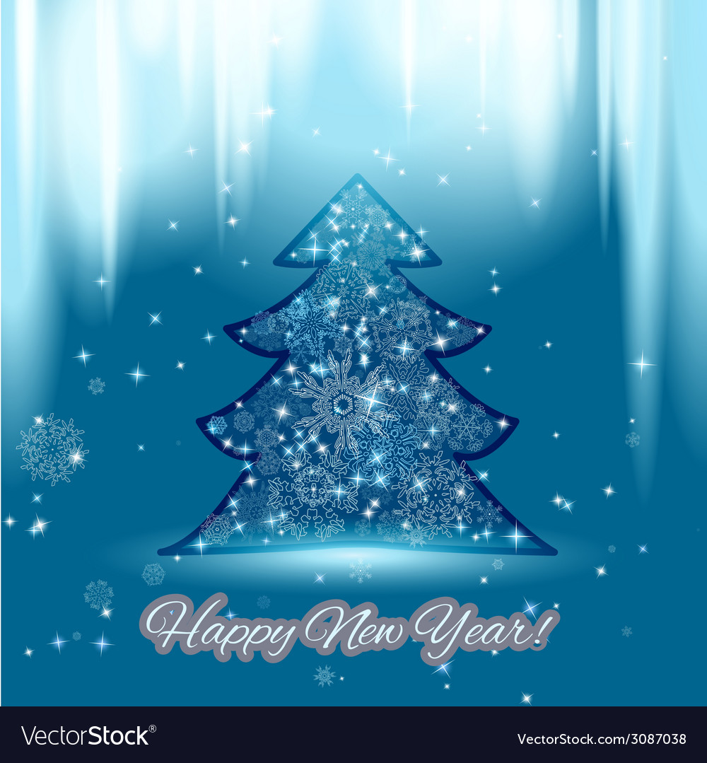 New year background with christmas tree and vector | Price: 1 Credit (USD $1)