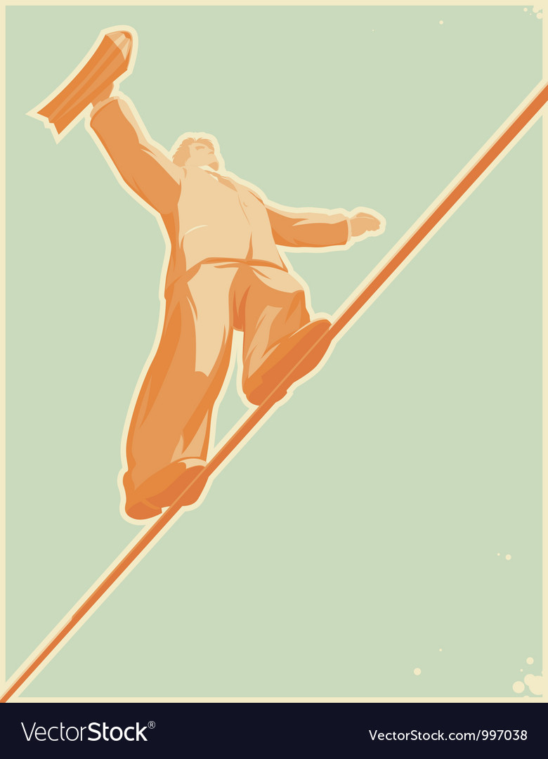 Rope-walker vector | Price: 1 Credit (USD $1)