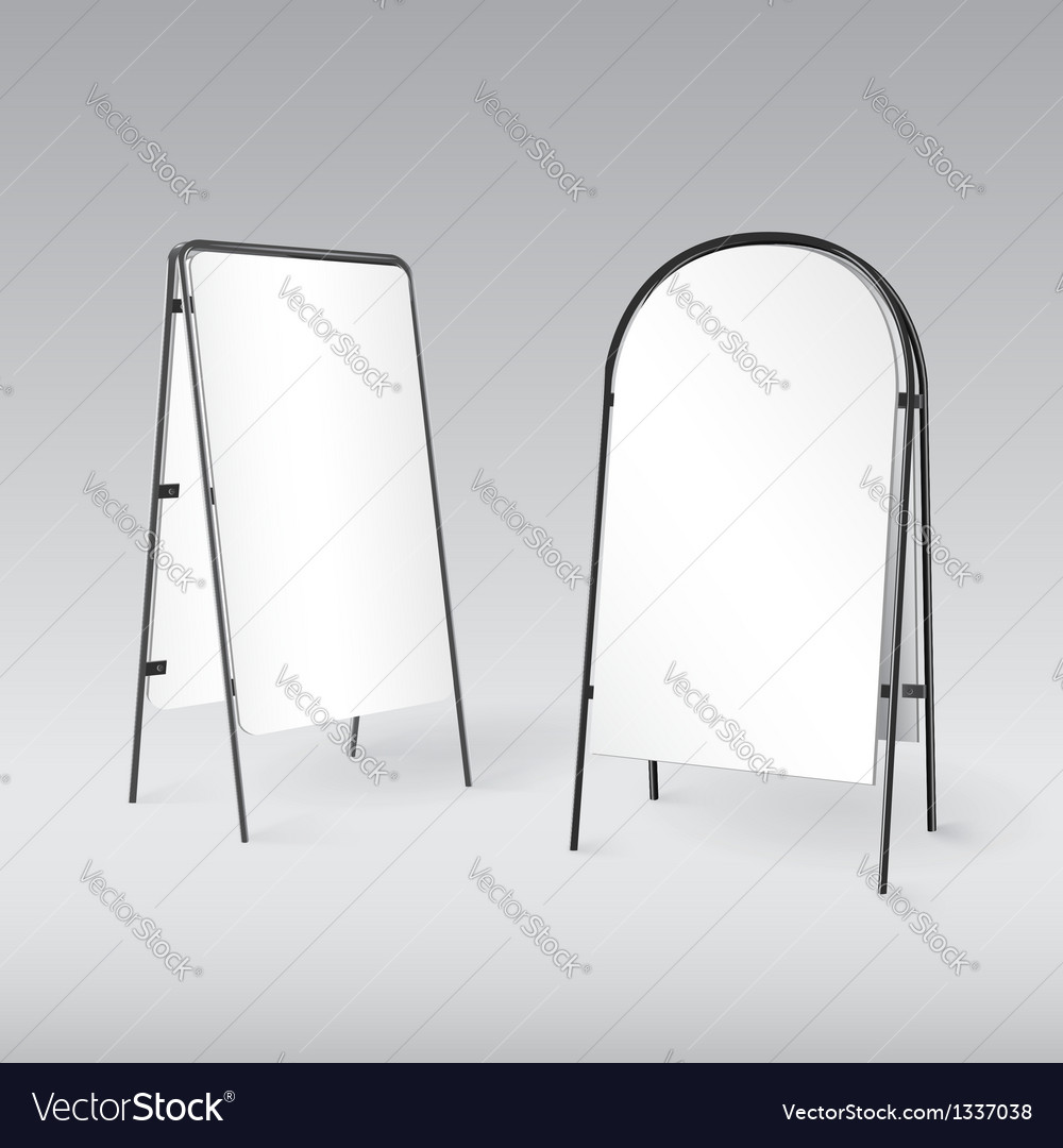 Sandwich board isolated - 3d vector | Price: 1 Credit (USD $1)