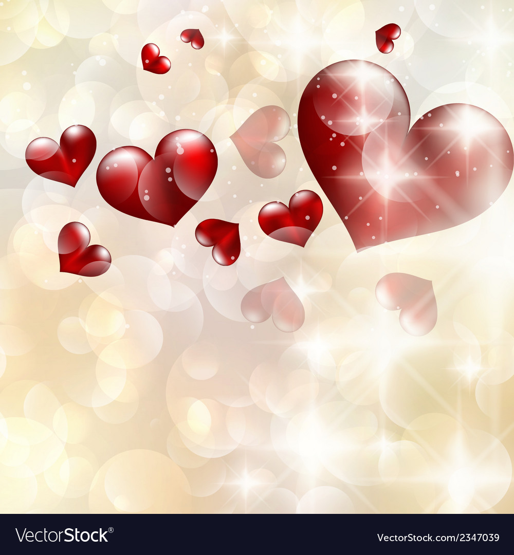 Abstract heart bokeh bright background eps 10 vector | Price: 1 Credit (USD $1)