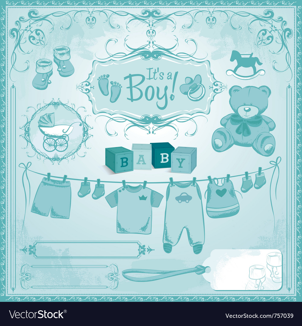 Baby boy childbirth vector | Price: 1 Credit (USD $1)