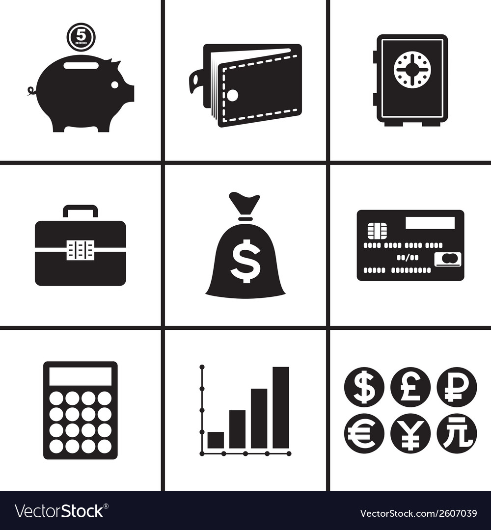 Business and financial icons set vector | Price: 1 Credit (USD $1)