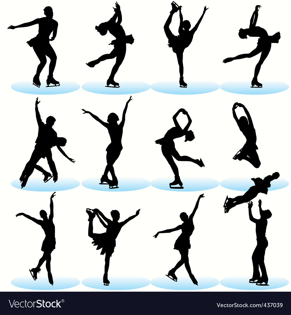 Figure skating vector | Price: 1 Credit (USD $1)