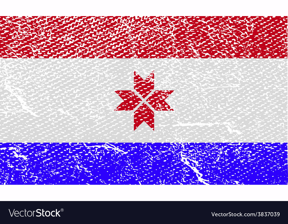 Flag of mordovia with old texture vector | Price: 1 Credit (USD $1)