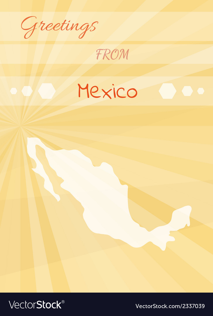 Greetings from mexico vector | Price: 1 Credit (USD $1)
