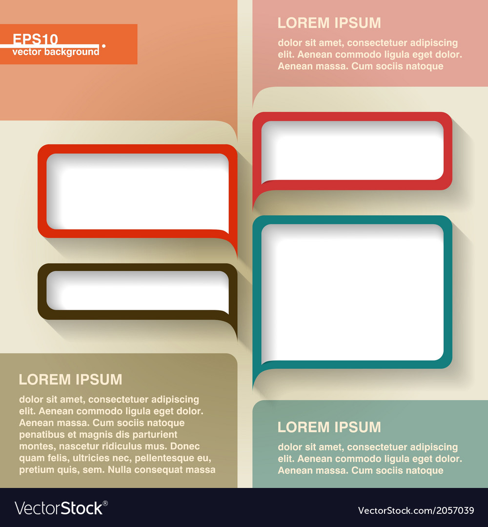 Infographics geometrical abstract background vector | Price: 1 Credit (USD $1)