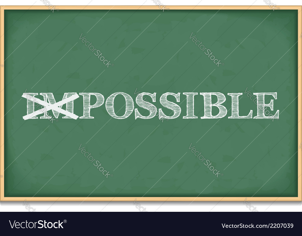 It is possible vector | Price: 1 Credit (USD $1)