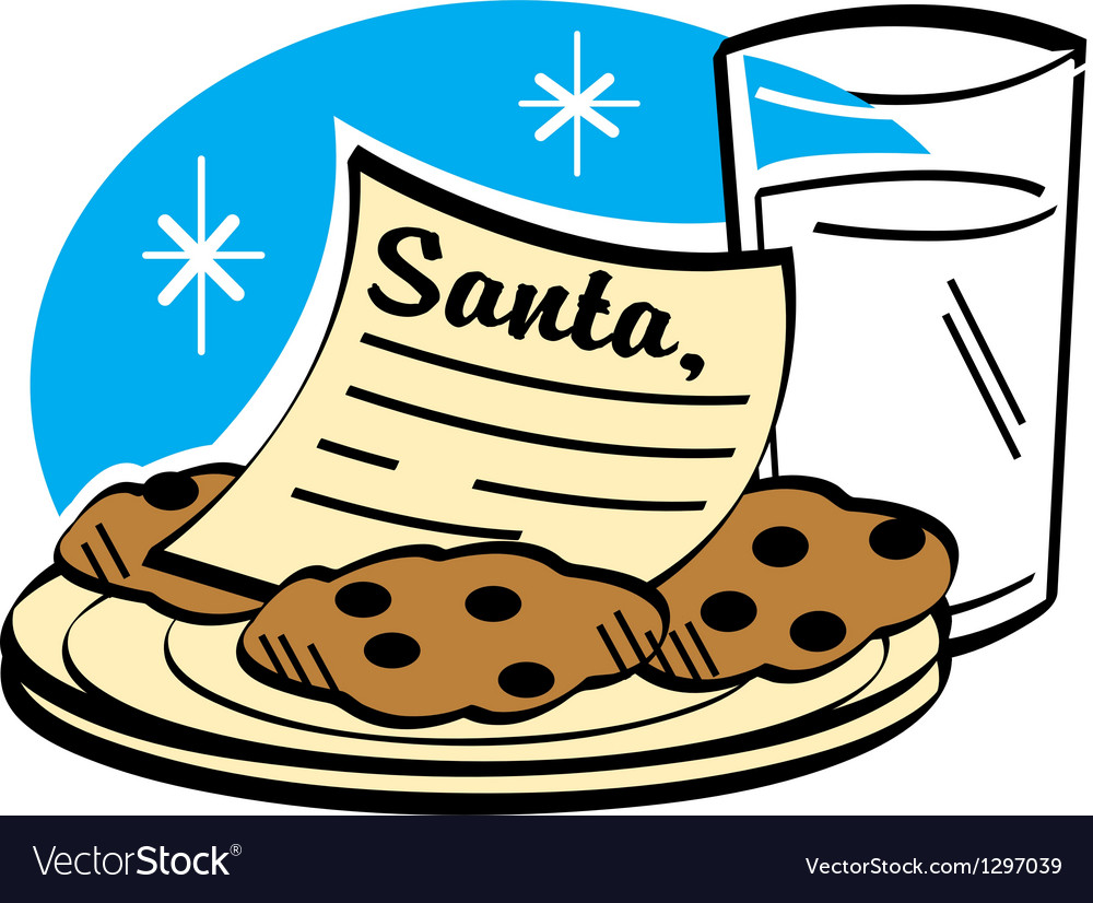 Milk and cookies for santa vector | Price: 1 Credit (USD $1)