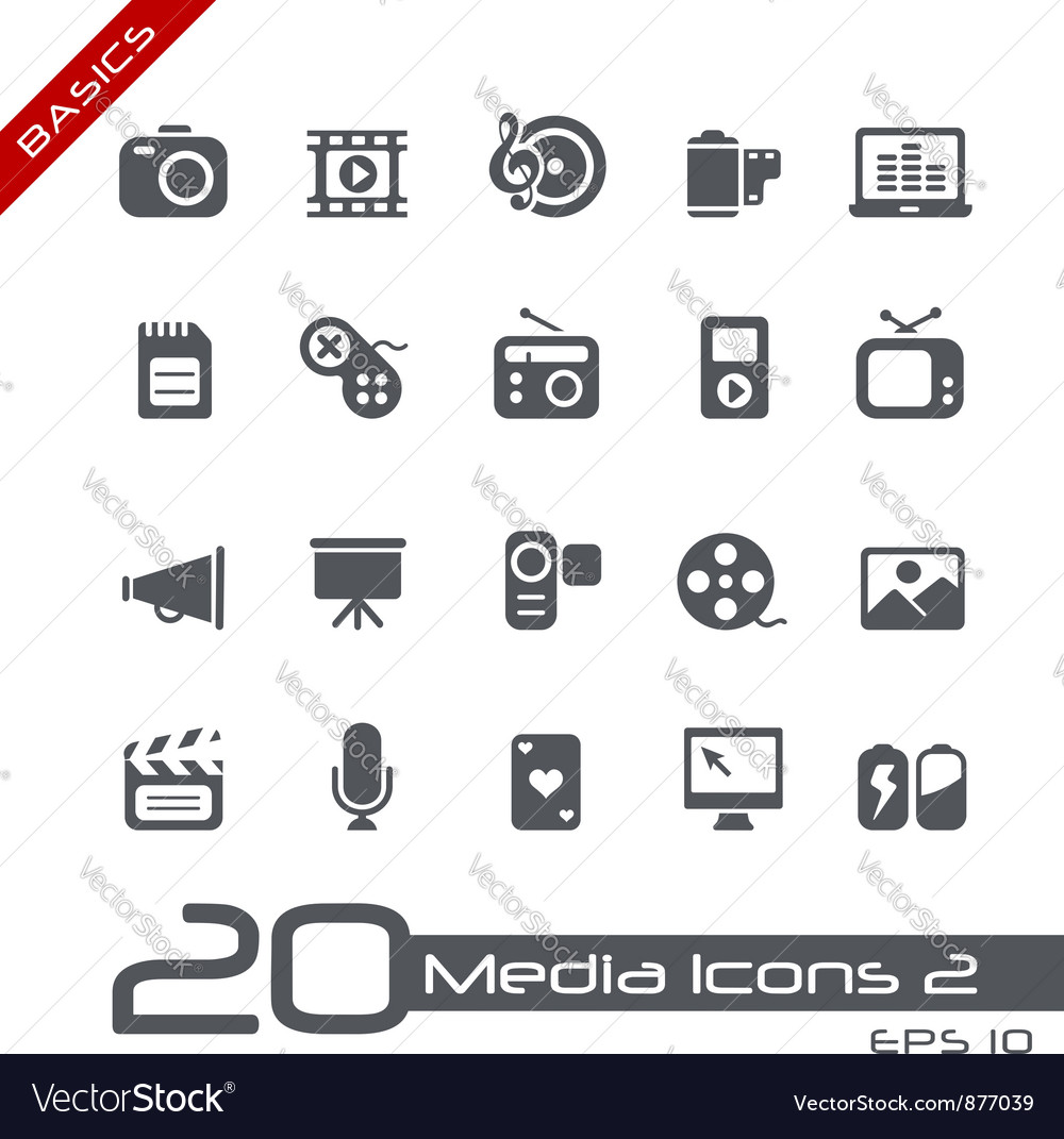 Multimedia basics series vector | Price: 1 Credit (USD $1)