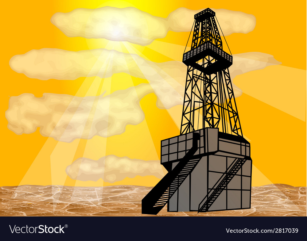 Natural gas drilling vector | Price: 1 Credit (USD $1)
