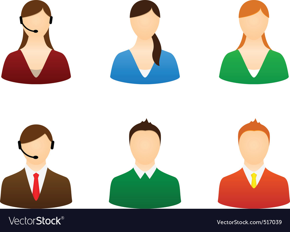 Set icons people vector | Price: 1 Credit (USD $1)