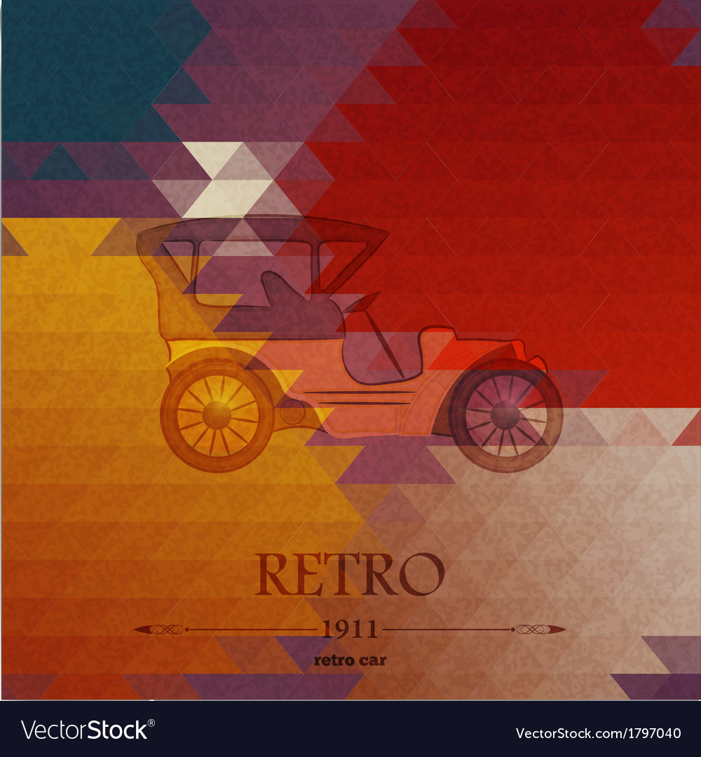 Abstract background with retro automobile vector | Price: 1 Credit (USD $1)