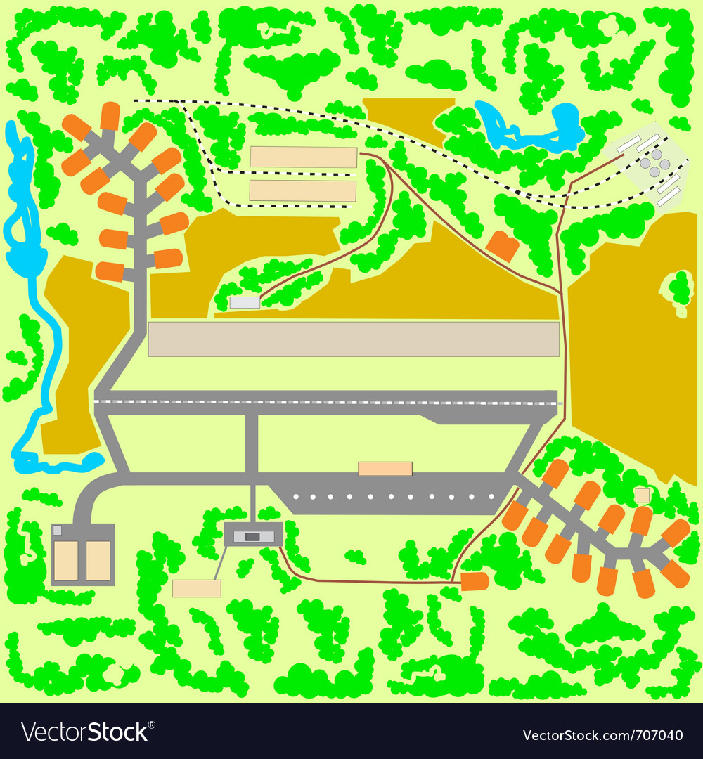 Airport map vector | Price: 1 Credit (USD $1)