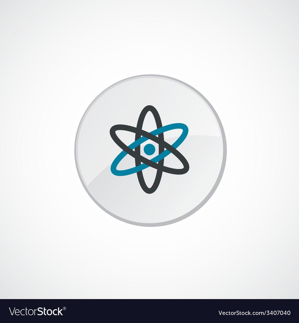 Atom icon 2 colored vector | Price: 1 Credit (USD $1)